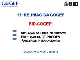 Anexo 9 – COGEF 17a reunião apresentacao BID