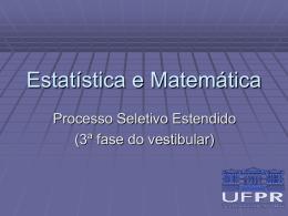 Matemática/Estatística