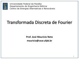Aula 3 Transformada Discreta de Fourier TDF