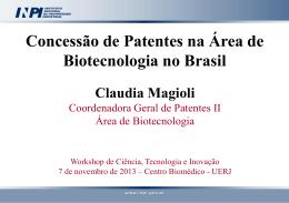 Concessão de Patentes na Área de Biotecnologia no Brasil