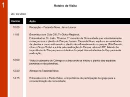 Visita 2 - Universidade de São Paulo