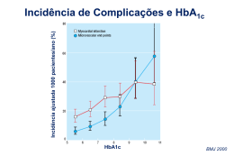 Incidência de Complicações e HbA1c