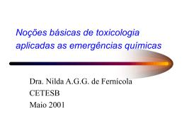 Nociones básicas de toxicologia aplicadas a las