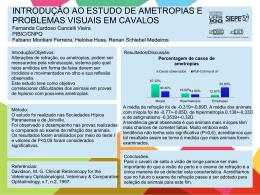 INTRODUÇÃO AO ESTUDO DE AMETROPIAS E