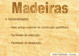 Madeiras - apresentação no PowerPoint