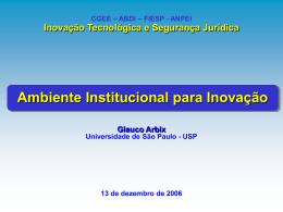 Ambiente Institucional para Inovação