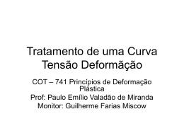 Tratamento Matemático da Curva de Tração
