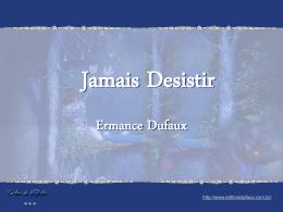 Jamais Desista - Ermance Dufaux