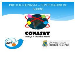 PROJETO CONASAT – COMPUTADOR DE BORDO