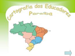cartografia da Paraíba