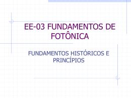 fundamentos históricos e físicos