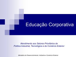 Mdic - Educação Corporativa - Ministério do Desenvolvimento