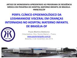 Perfil clínico-epidemiológico da leishmaniose visceral em crianças