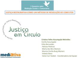 justiça restaurativa como um método de resolução de conflitos