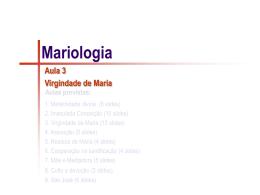 Mariologia-03- Virgindade de Maria