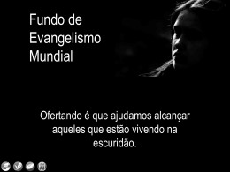 World Evangelism Fund is accountable to Maria