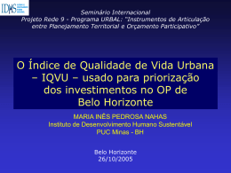 puc – minas - Centro de Documentación del Programa URB-AL