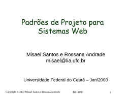 PadroesWeb_pdf - Universidade Federal do Ceará