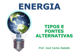 Energia no Mundo - Prof. CARLOS RABELLO