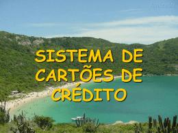 SISTEMA DE CARTÕES DE CRÉDITO