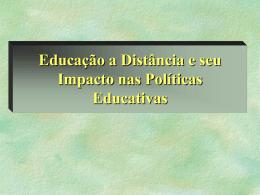 Educação a Distância e seu Impacto nas Políticas