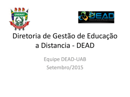 Diretoria de Gestão de Educação a Distância