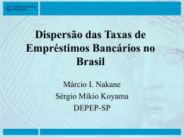 Dispersão das Taxas de Empréstimos