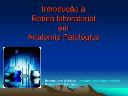 Rotina laboratorial em Anatomia Patológica
