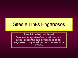 Sites e Links Enganosos