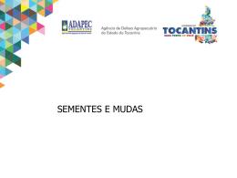 sementes puras - Governo do Estado do Tocantins