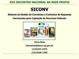 Apresentação SICONV