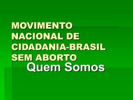MOVIMENTO NACIONAL DE CIDADANIA-BRASIL SEM