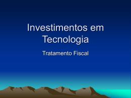 Investimento - Denis Borges Barbosa