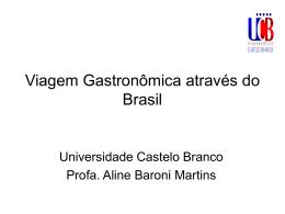 Antropologia da Nutrição Humana - Universidade Castelo Branco