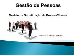Gestão de Pessoas Modelo de Substituição de Postos-Chaves