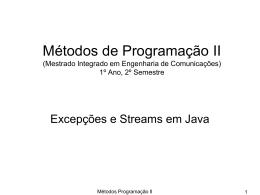 Métodos de Programação II (Mestrado Integrado em Engenharia de