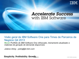 mapeadas com a IBM Software One