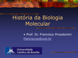 HistoriaDaBiomol - Instituto de Bioquímica Médica UFRJ