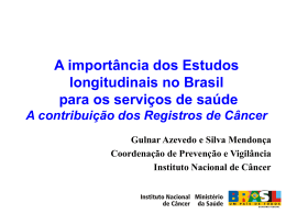 no Instituto Nacional de Câncer
