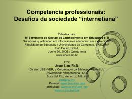 Competencia professionais