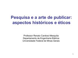 Arquivo da Apresentação - Universidade Federal de Minas Gerais
