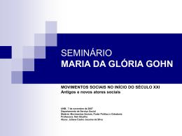 Seminário: Movimentos sociais no início do