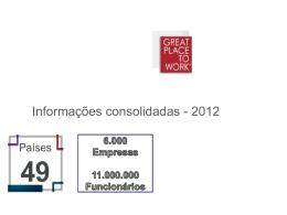 Informações consolidadas - 2012