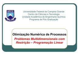 Universidade Federal de Campina Grande Centro de Ciências e