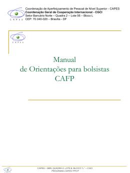 Orientações Técnico-Financeiras - CAPES