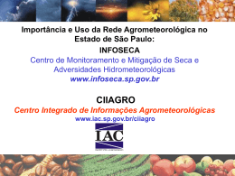 Sistema de Informações Agrometeorológicas (CIIAGRO-IAC)