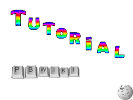 Tutorial wiki - aprendendo com tecnologia