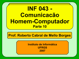 Interface por Menus - Instituto de Informática