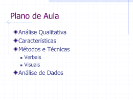 qualitativa-observacao - Centro de Informática da UFPE