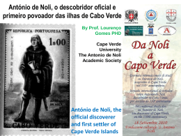 NTONIO DE NOLI, the official discoverer and first settler of Cape